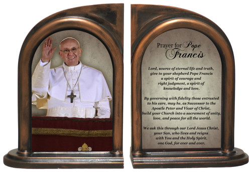 Pope Francis on Balcony Bookends