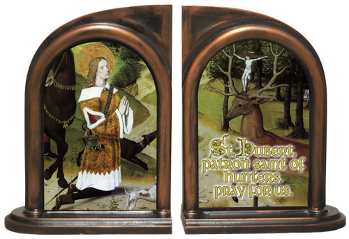 St. Hubert Hunter's Prayer Bookends
