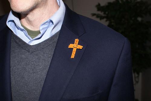 Orange Cross Project Martyr Solidarity Lapel Pin