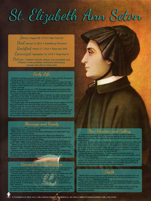 St. Elizabeth Ann Seton Explained Poster