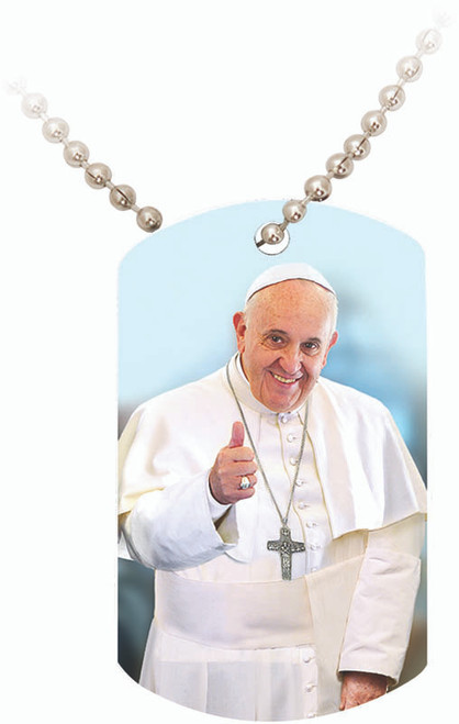 Pope Francis Thumbs Up Dogtag