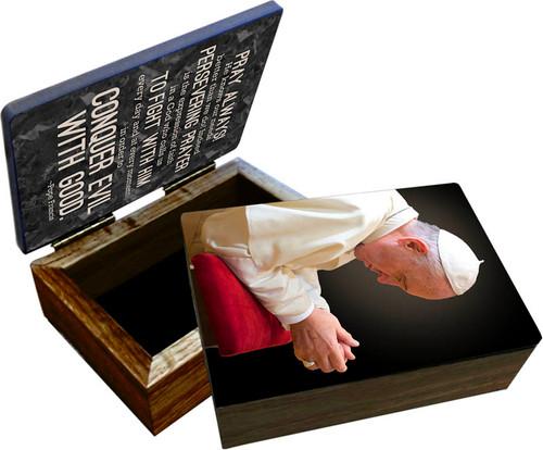 Pope Francis in Prayer Keepsake Box