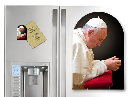 Pope Francis in Prayer Arched Magnet