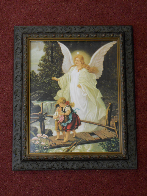 Angel on the Perilous Bridge - Dark Ornate Frame - LIMITED EDITION