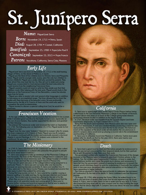 St. Junipero Serra Explained Poster