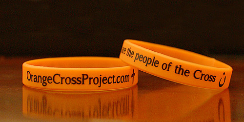 Orange Cross Project Silicone Wristband