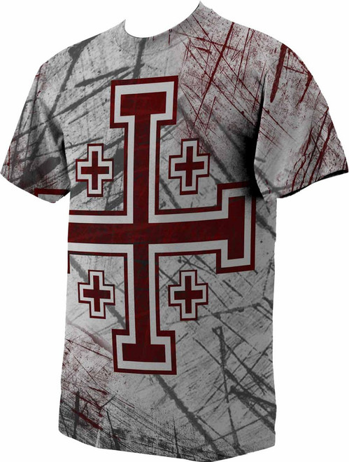 Crusader Cross Full Color T-Shirt