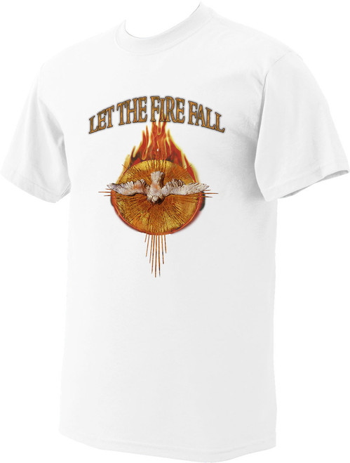 Let The Fire Fall T-Shirt (white)