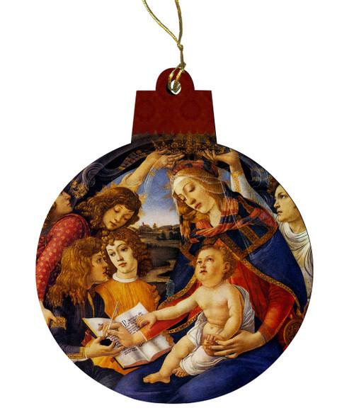 Madonna of the Magnificat Wood Ornament