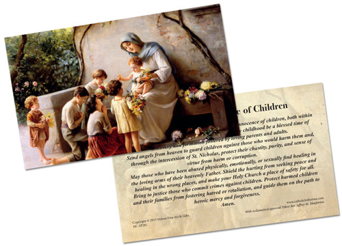 Prayer Card for the Innocence of Children