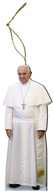 Pope Francis Wood Ornament