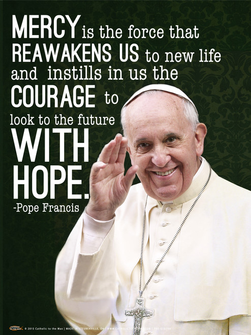 Pope Francis Waving Quote Poster