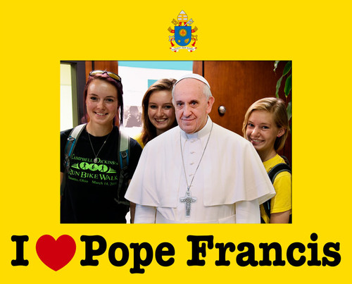 I Love Pope Francis 5x7 Photo Matte