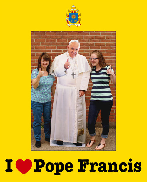 I Love Pope Francis 7x5 Vertical Photo Matte