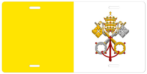Flag of Vatican City License Plate