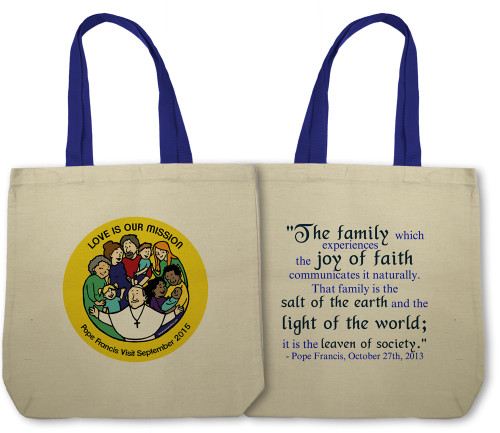 Love is Our Mission - Pope with Families Totebag