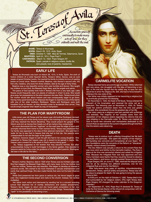 Saint Teresa of Avila Explained Poster