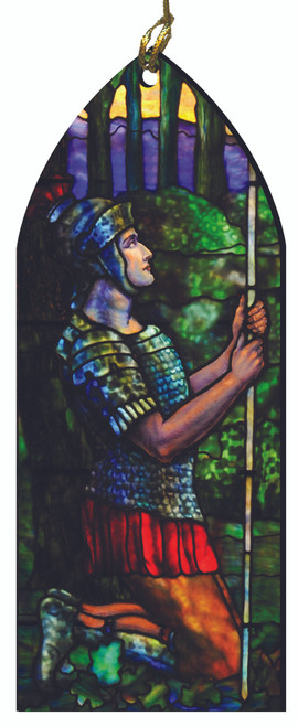 St. Longinus the Centurion Stained Glass Wood Ornament