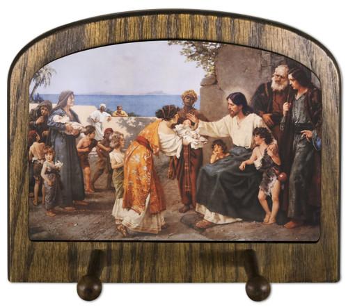 Christ Blessing the Children Horizontal Peg Holder