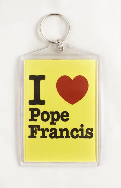 I Love Pope Francis Apostolic Journey Key Chain (Large)