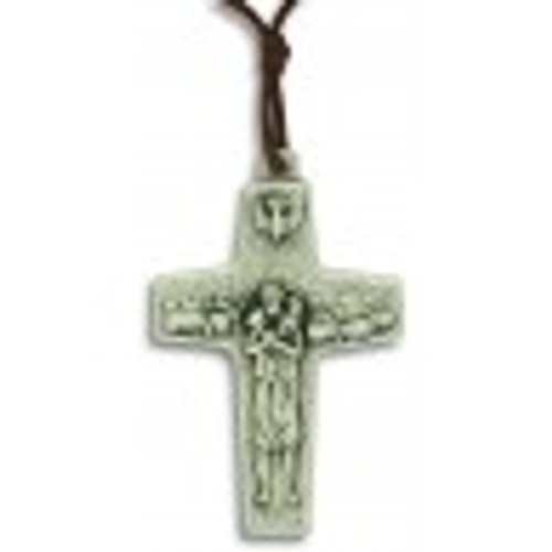 "Pope Francis Cross Pendant 1-1/8"" with Cord"