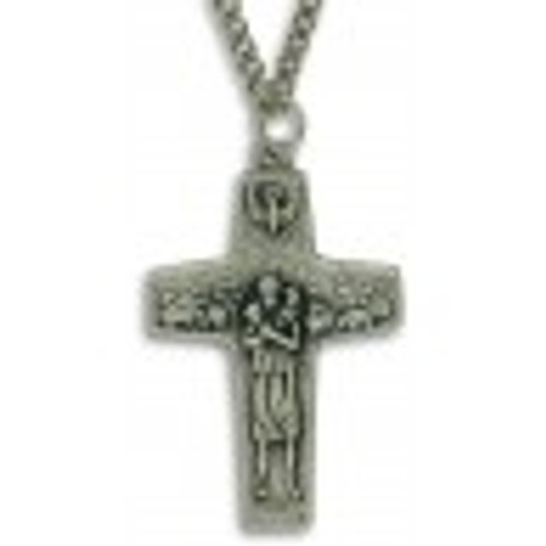 Pope Francis Cross Necklace with 24 inch chain