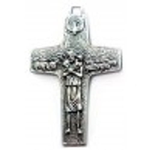 LIFE SIZE 4 inch Official Pope Francis Cross Crucifix Antonio Vedele Authentic Vatican Original Pectoral Cross