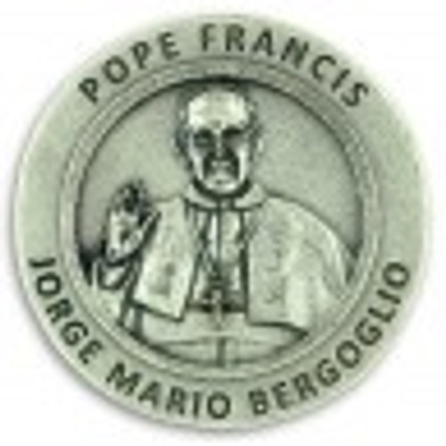 Pope Francis Commemorative Pocket Medallion with quote - Made in Italy