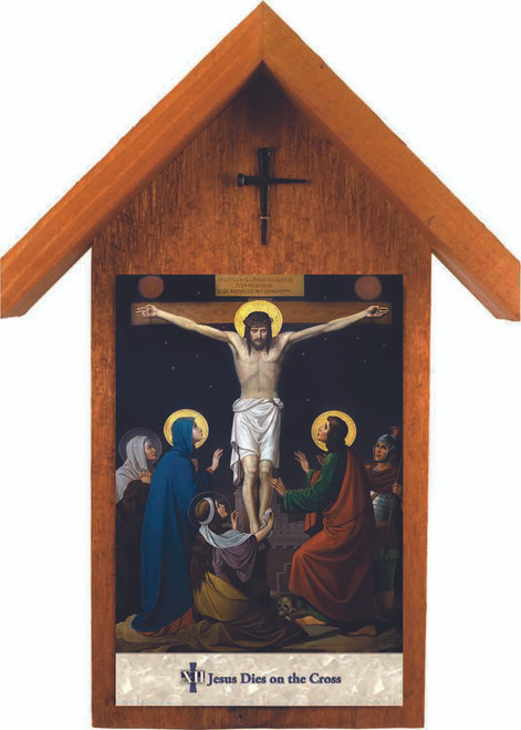 Emmerich Stations of the Cross Handcrafted Simple Outdoor Shrine (Set of 14)