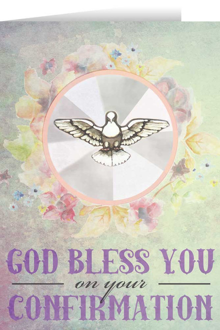 Spring Watercolor Dove Confirmation Greeting Card