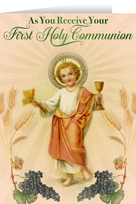Christ Child First Communion Greeting Card
