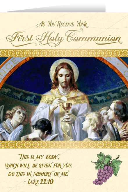 Bread of Angels First Communion Greeting Card I