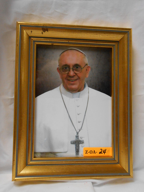 Pope Francis Formal 5x7 Gold Framed Print