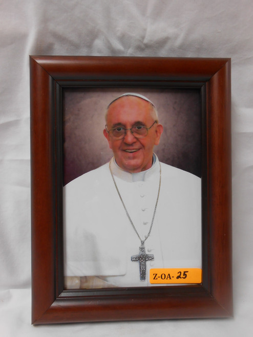 CLEARANCE Pope Francis Formal 5x7 Mahogany Framed Print