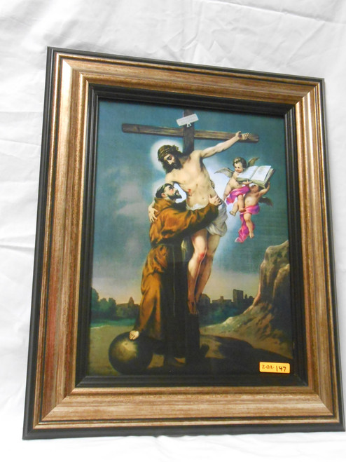 St. Francis with Crucifix 12x16 Framed Print