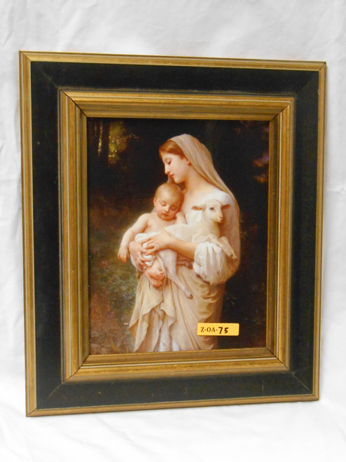 L'Innocence 8x9 Black and Gold Framed Print