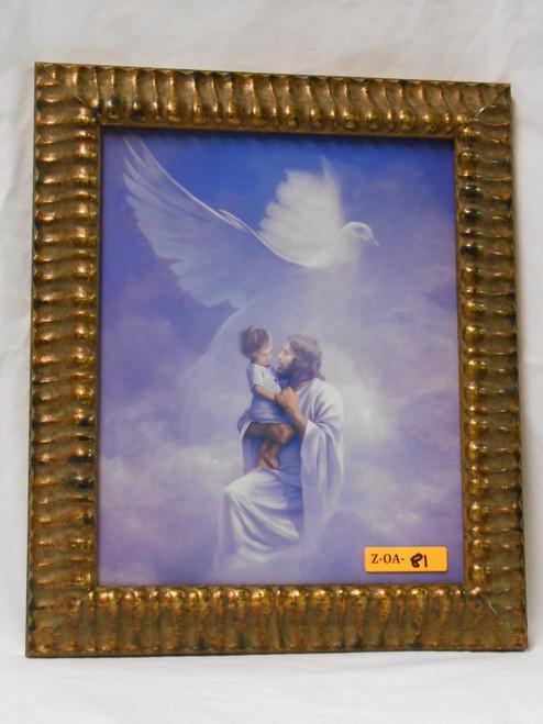 Christ and Child 8x10 Gold Framed Print