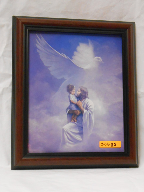 Christ and Child 8x10 Dark Framed Print