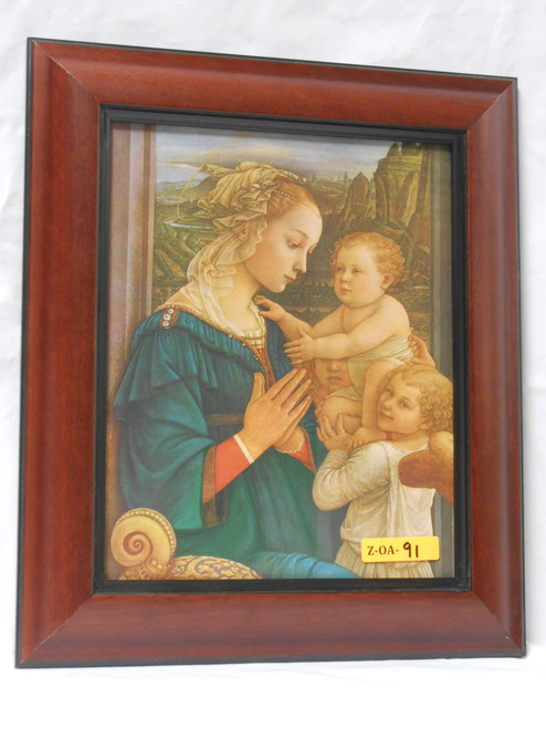 Madonna and Child 8x10 Dark Framed Print