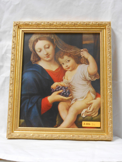 Madonna of the Grapes 8x10 Framed Print