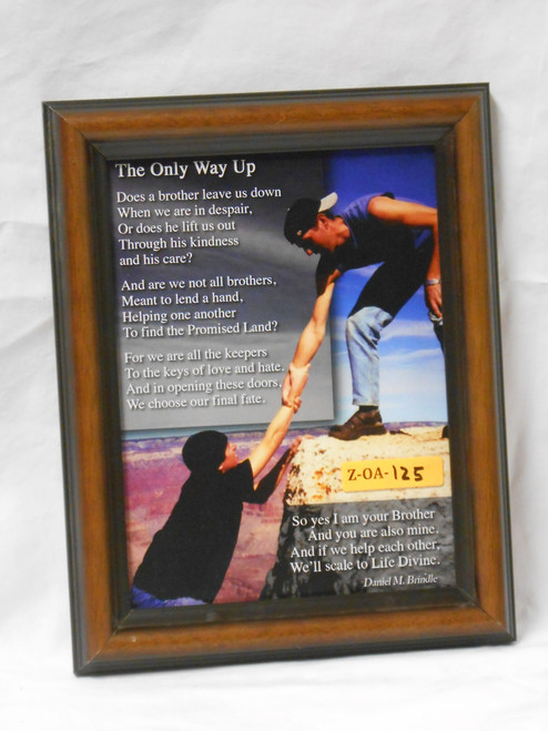 The Only Way Up 6x8 Black and Brown Framed Print