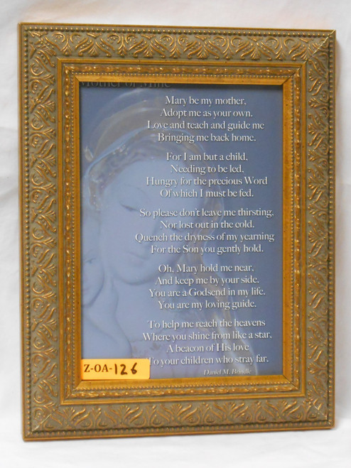 CLEARANCE Mary Be My Mother 5x8 Framed Print