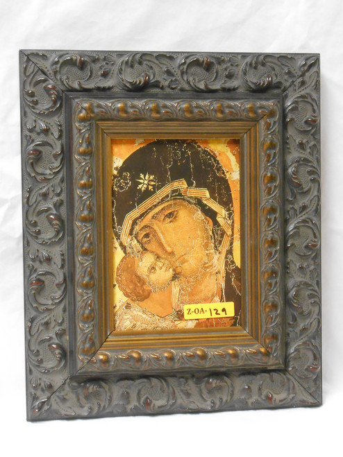 Our Lady of Vladimir 5x7 Silver and Gold Framed Print