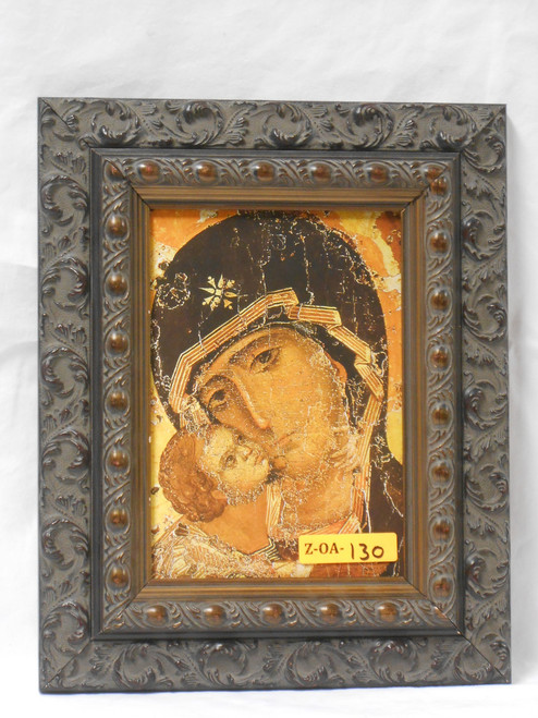 Our Lady of Vladimir 5x7 Antiqued Framed Print