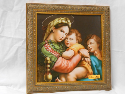Madonna of the Chair 10x10 Framed Print