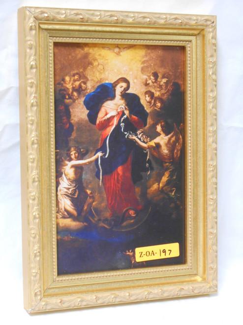 Mary Undoer of Knots 5x8 Gold Framed Print