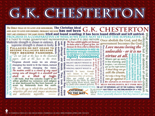 G. K. Chesterton Quote Poster