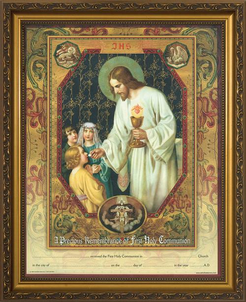 Christ the Living Bread - Gold Framed Certificate