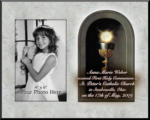 Eucharist Detail Personalized Photo Plaque