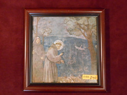 St. Francis 8x8 Dark Framed Print